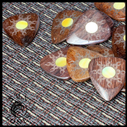 Sun Tones - Chestnut - 1 Guitar Pick | Timber Tones